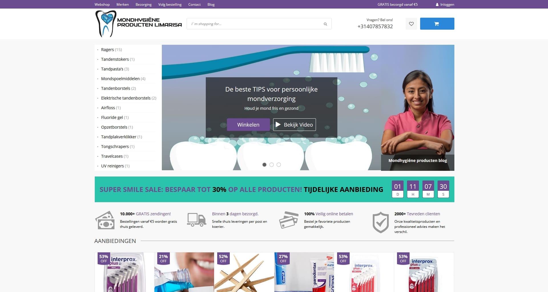 WooCommerce webshop portfolio
